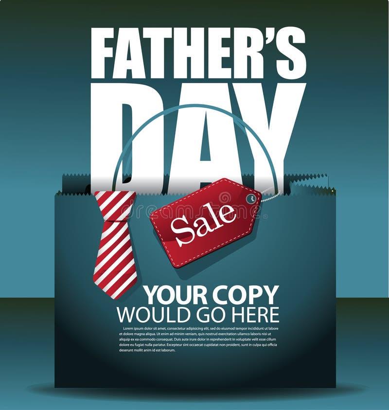 Ojca dnia sprzedaży torba na zakupy tła EPS 10 wektor ilustracja wektor