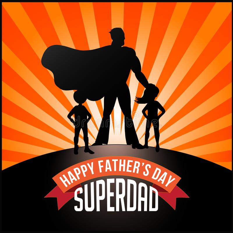 Ojca dnia wektor - «SUPERDAD « ilustracji