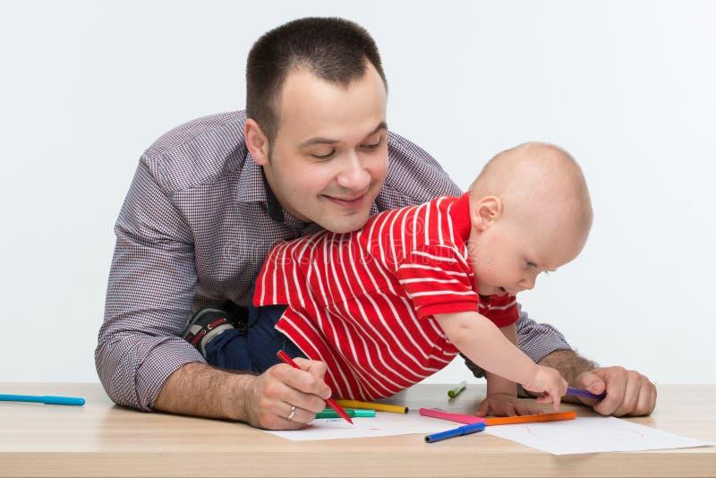 Ojca i berbecia syna rysunek obraz royalty free