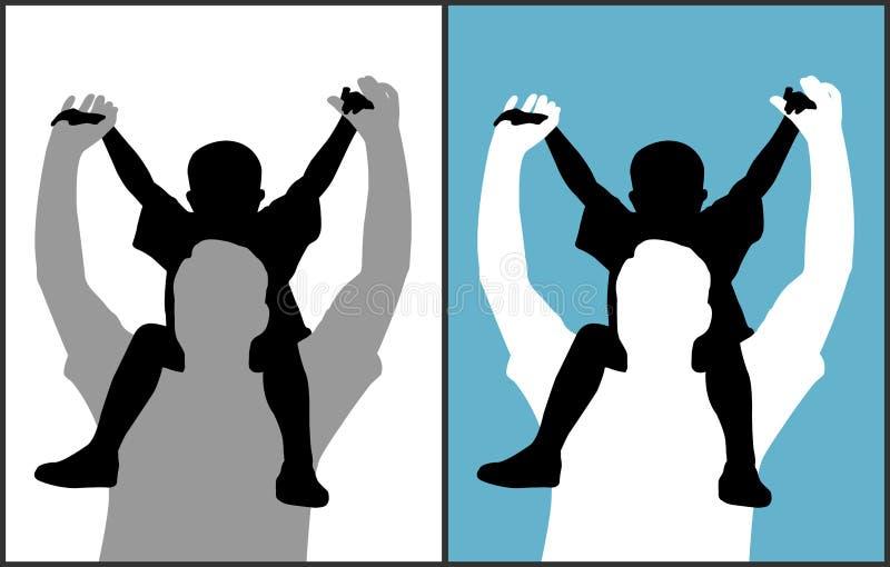 ojca i syna royalty ilustracja
