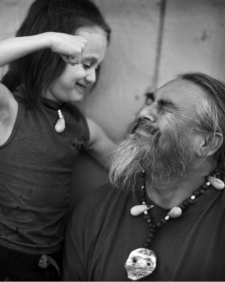 Ojca i syna portret fotografia royalty free
