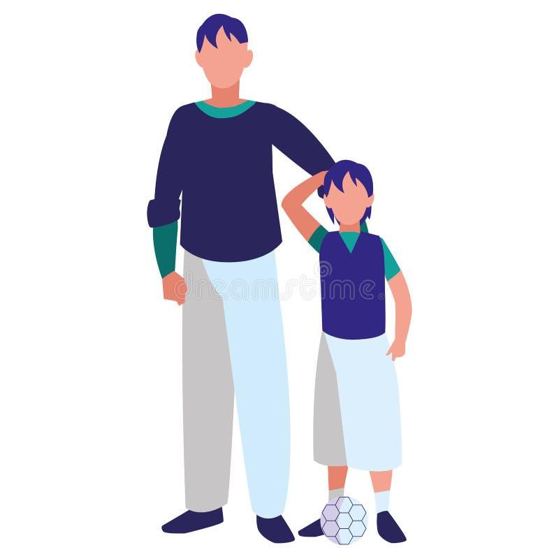 Ojca i syna projekt ilustracja wektor