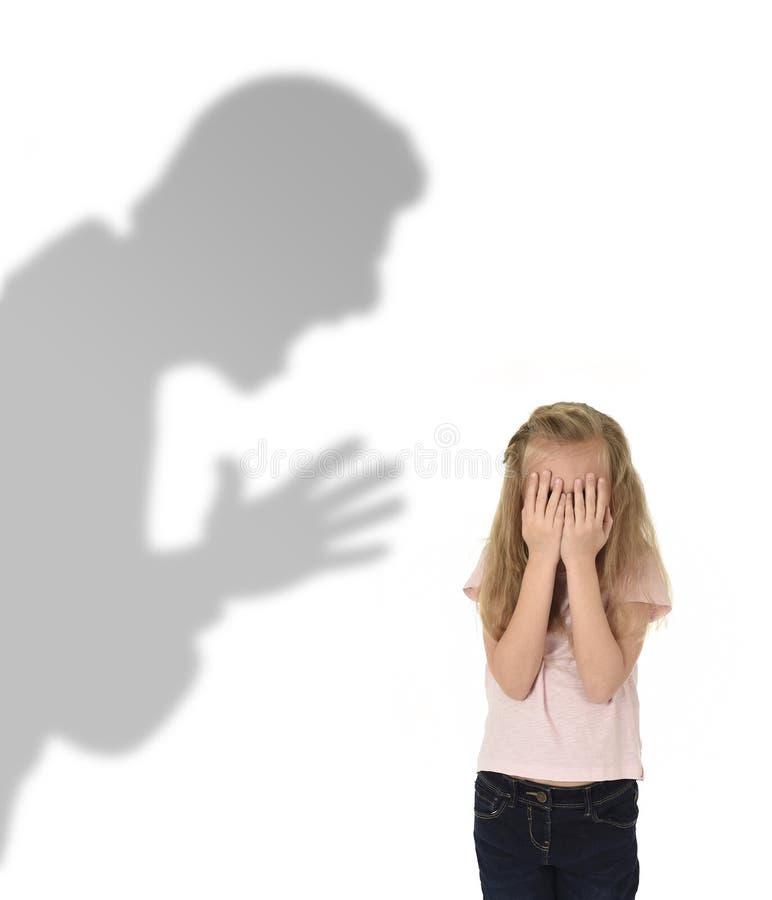 Ojca lub nauczyciela cień krzyczy obrazy stock