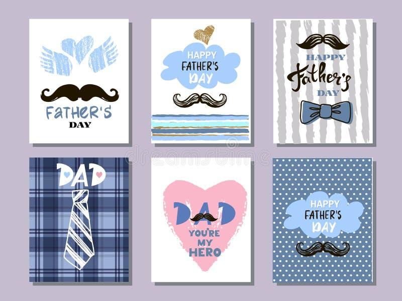 Ojca ` s dnia kolekcja cards10 ilustracja wektor
