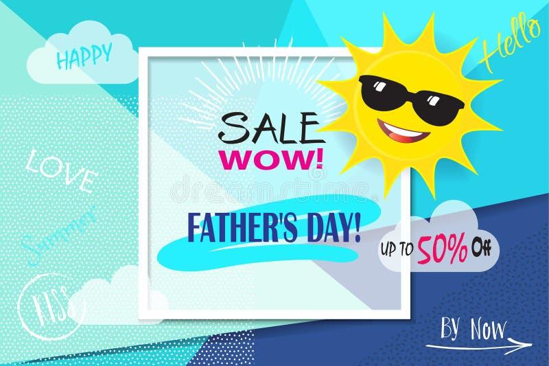 Ojca ` s dnia sprzedaż ilustracja wektor