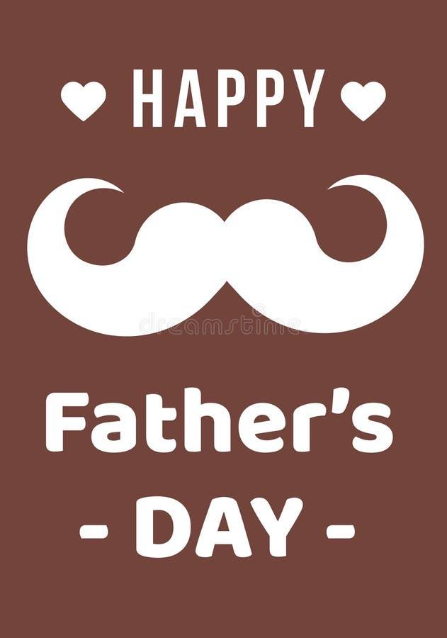 Ojca s dnia zadziwiające wektorowe ilustracje dzień ojciec szczęśliwy s Brown barwił tło obrazy royalty free