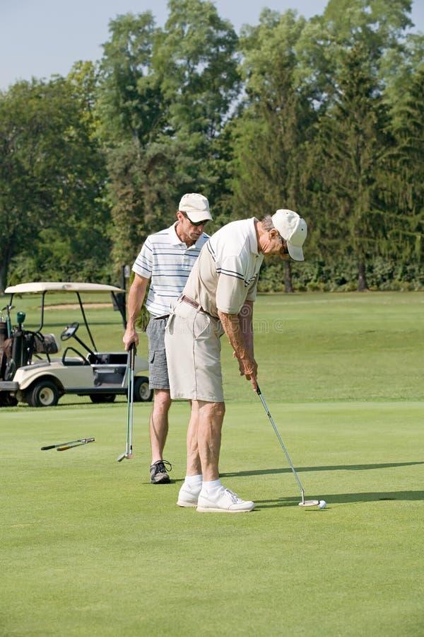 ojca syn golfowy bawić się fotografia royalty free