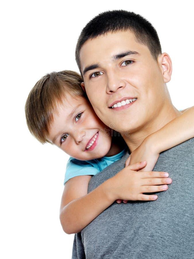 ojca szczęśliwy portreta syn zdjęcia royalty free