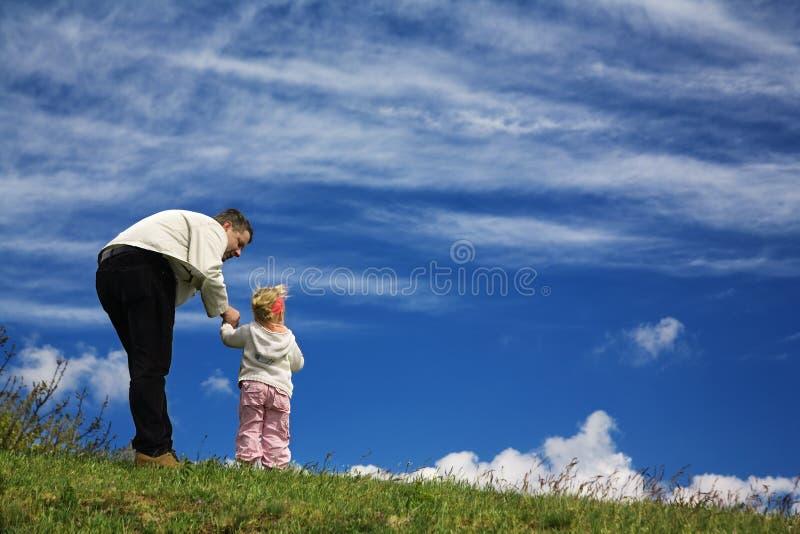 ojciec córkę obraz royalty free