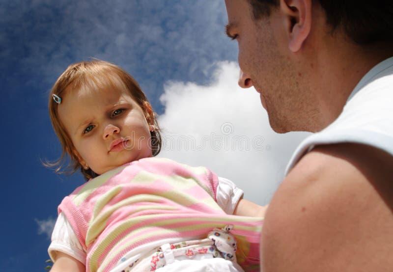 Ojciec & córka obrazy stock
