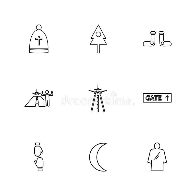 ojciec, drzewo, crecent, flaga, serca, kamera, pupil, ilustracji