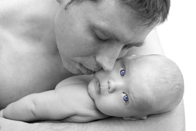 ojciec dziecka fotografia stock
