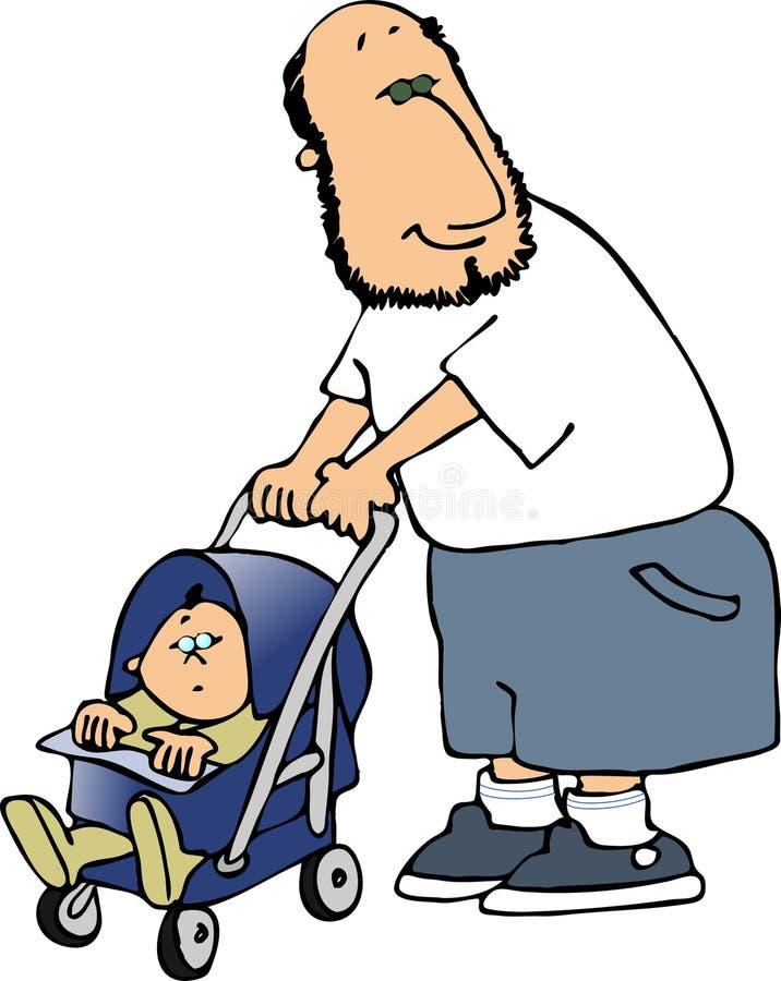ojciec dziecka royalty ilustracja
