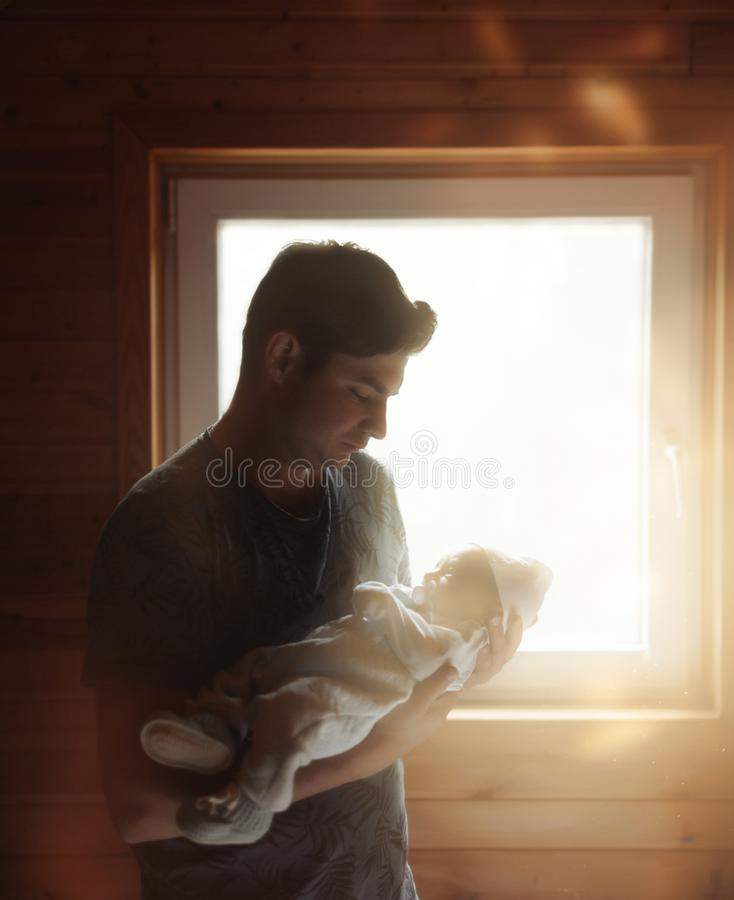 ojciec dziecka obrazy royalty free