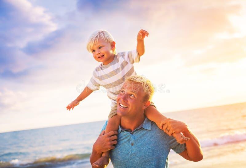 Ojciec i syn obraz royalty free