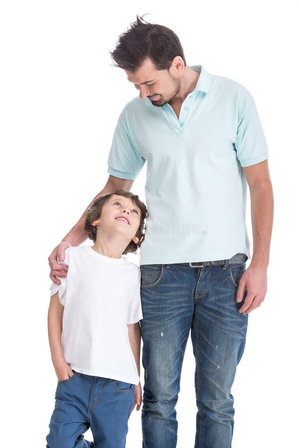 Ojciec i syn obrazy royalty free