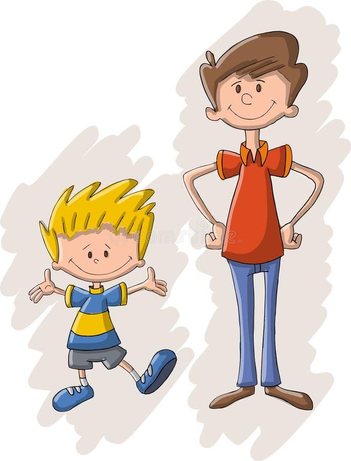 Ojciec i syn ilustracja wektor