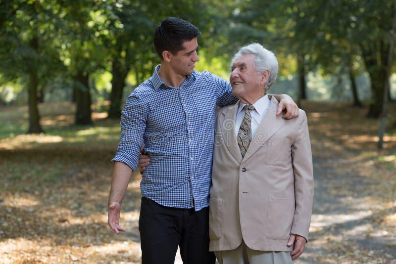 Ojciec i Syn w Parku fotografia royalty free