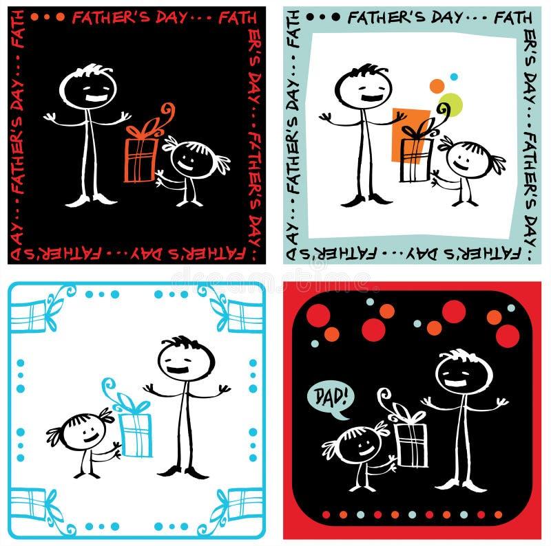 ojciec jest dzień royalty ilustracja