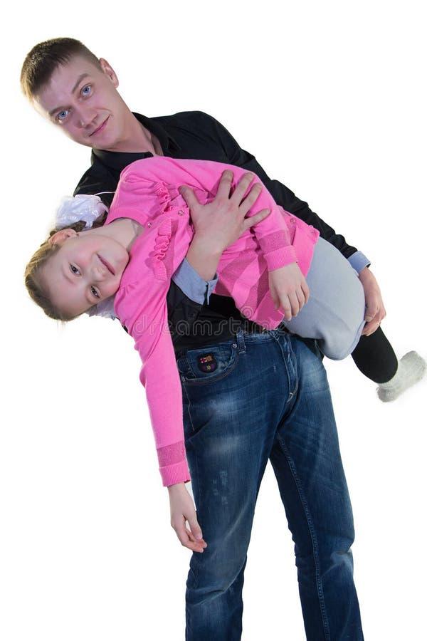 Ojciec z jego córką zdjęcia stock
