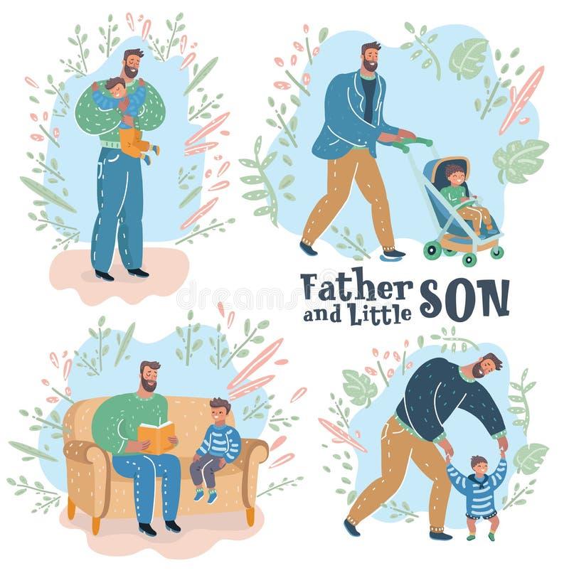 ojcostwo Ojciec i syn ilustracji