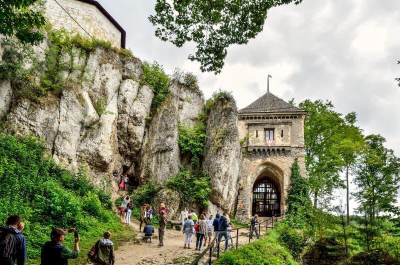 Ojcow kasztel w Polska obraz royalty free