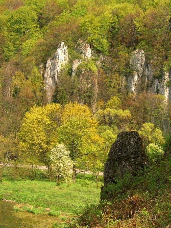 Ojcow National Park in Poland stock photo
