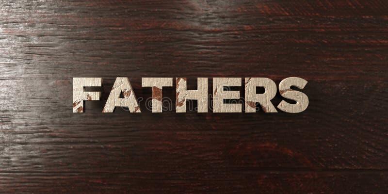 Ojcowie - grungy drewniany nagłówek na klonie - 3D odpłacający się królewskość bezpłatny akcyjny wizerunek ilustracji