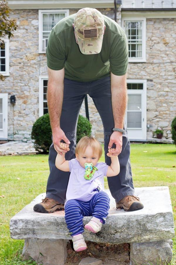 Ojczulek córka zdjęcie royalty free