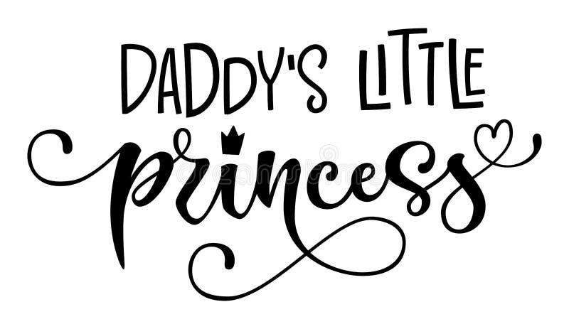 Ojczulka princess Mała wycena Dziecko prysznic nowożytnej kaligrafii ręka rysujący wektorowy literowanie, groteska teksta logo st ilustracji