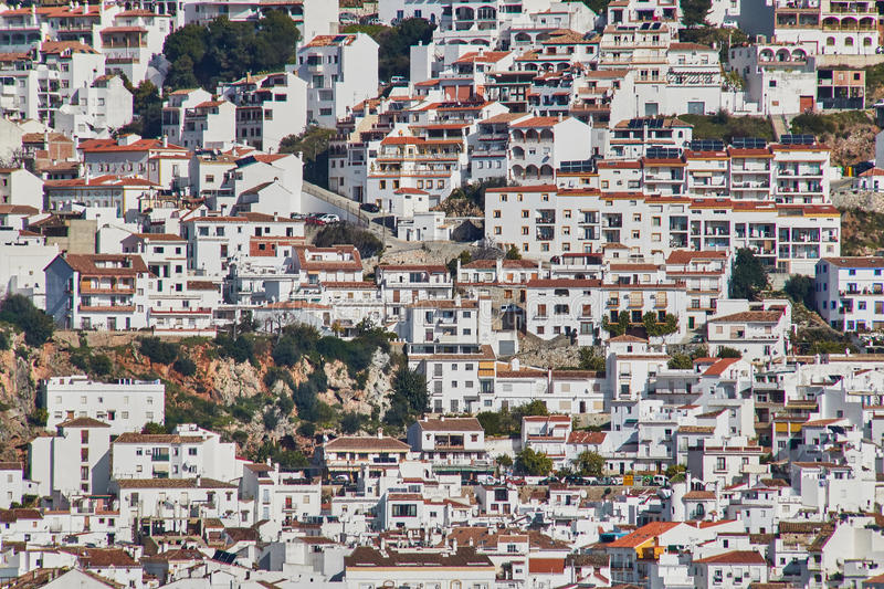 Ojen White village, Malaga, Spain. Ojen is a town and municipality in the province of Málaga, part of the autonomous community of Andalusia in southern Spain royalty free stock photo