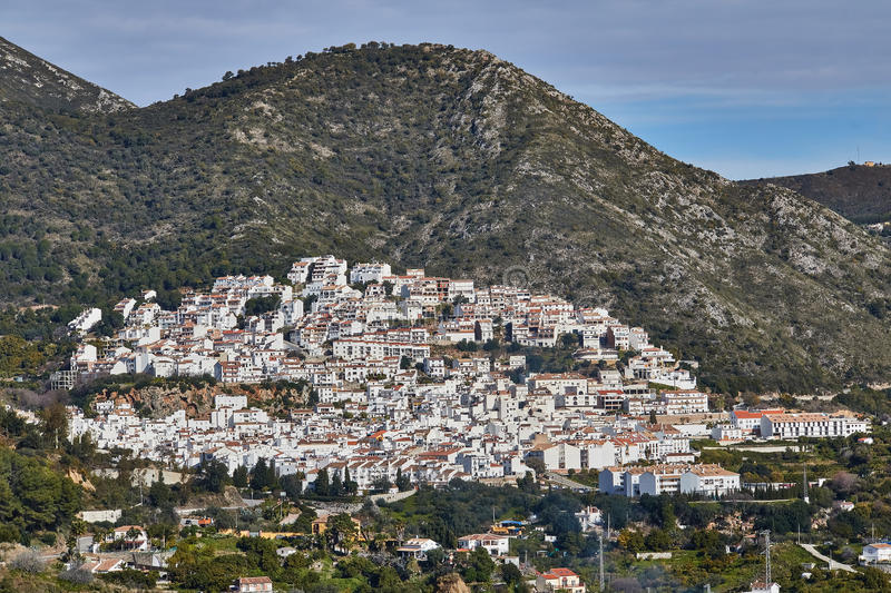 Ojen White village, Malaga, Spain. Ojen is a town and municipality in the province of Málaga, part of the autonomous community of Andalusia in southern Spain stock photography