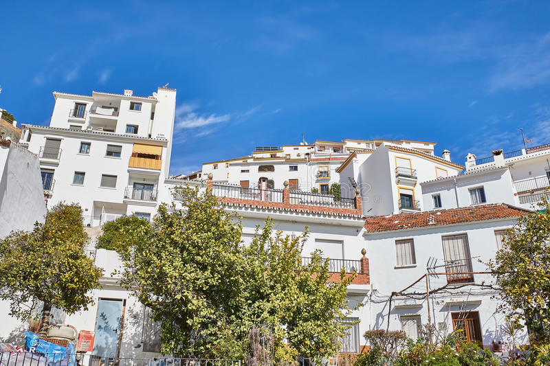 Ojen White village, Malaga, Spain. Ojen is a town and municipality in the province of Málaga, part of the autonomous community of Andalusia in southern Spain stock image