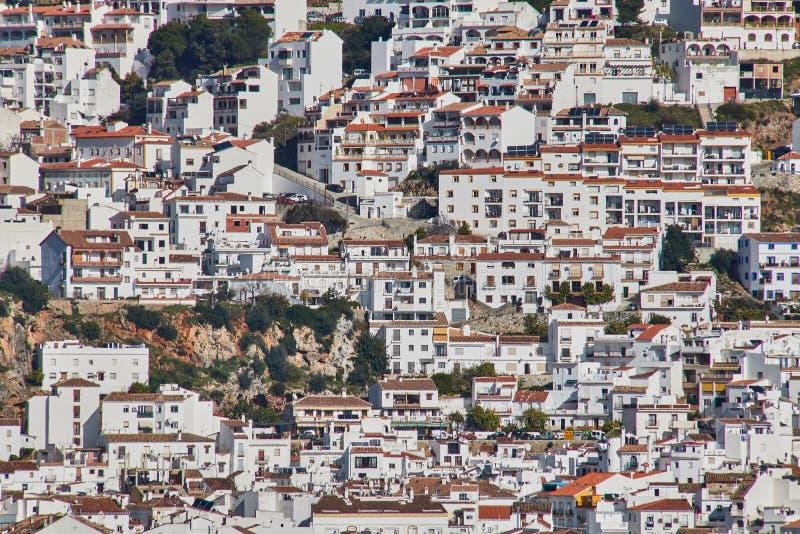 Ojen Wit dorp, Malaga, Spanje royalty-vrije stock foto