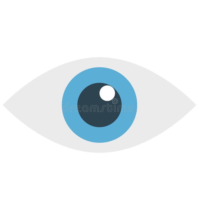 ojo, órgano del cuerpo, icono aislado del vector que puede ser modificado o corregir fácilmente ilustración del vector