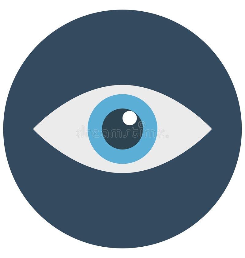 ojo, órgano del cuerpo, icono aislado del vector que puede ser modificado o corregir fácilmente libre illustration