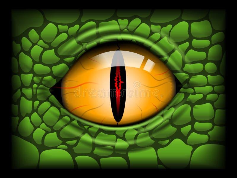 Ojo asustadizo de un reptil Imagen del vector ilustración del vector
