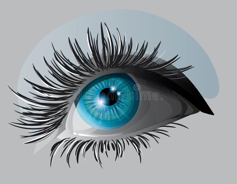 Ojo azul ilustración del vector