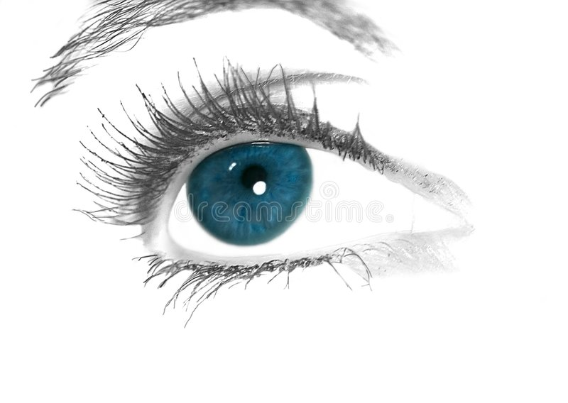 Ojo azul imagen de archivo libre de regalías