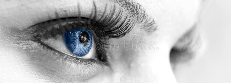 Ojo azul - hermoso, femenino imágenes de archivo libres de regalías