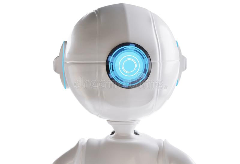 Ojo blanco A del azul uno del robot I 3D-Illustration libre illustration