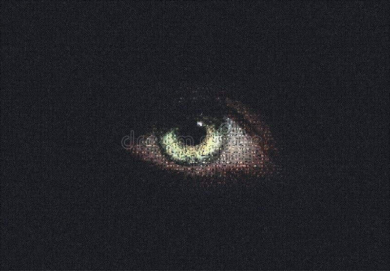 Ojo de Digitaces foto de archivo