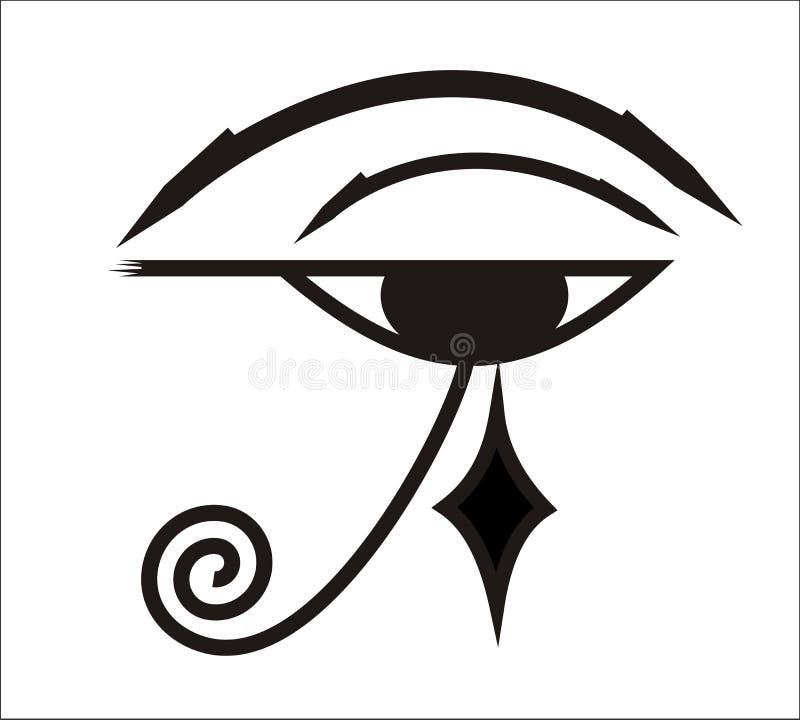 Ojo de Horus - símbolo egipcio stock de ilustración