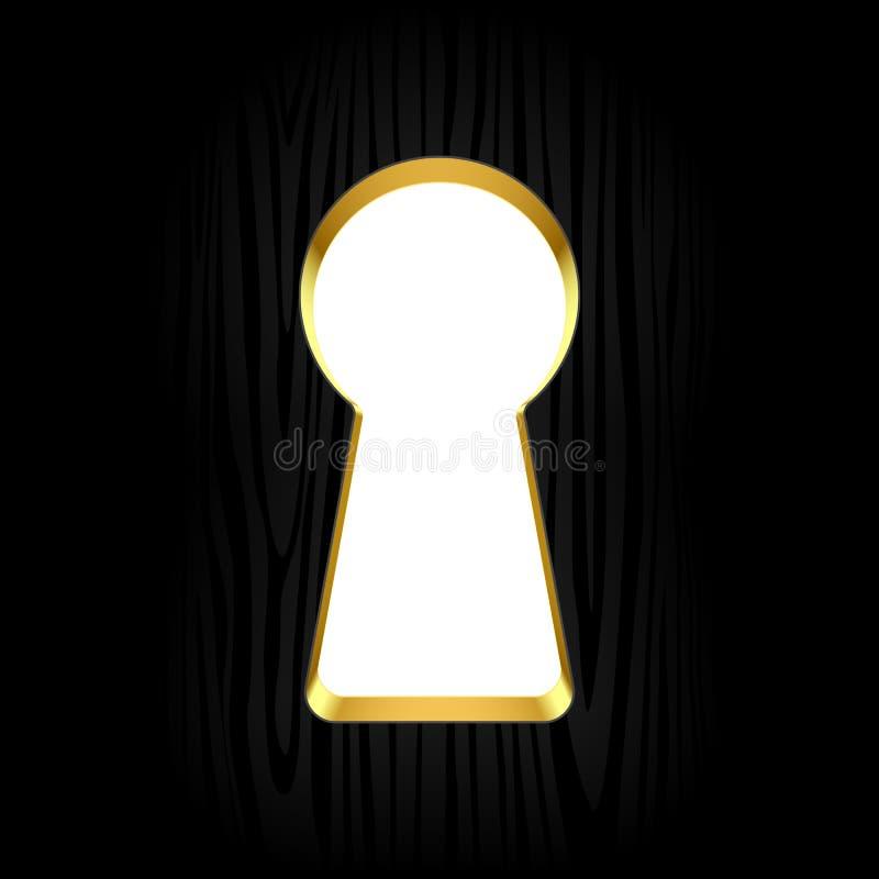 Ojo de la cerradura ilustración del vector