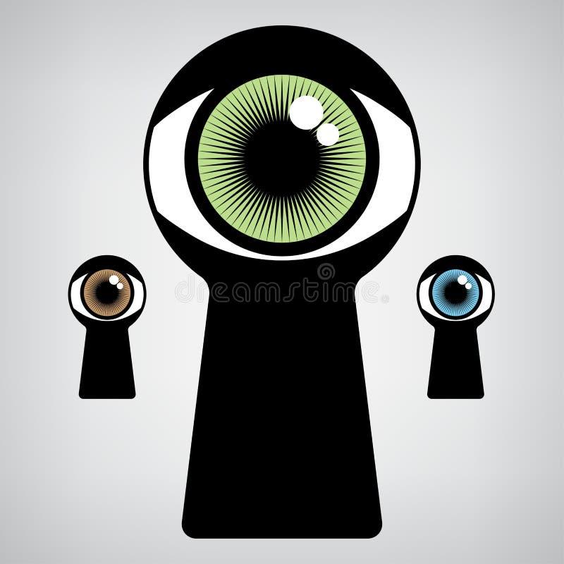 Ojo de la cerradura libre illustration