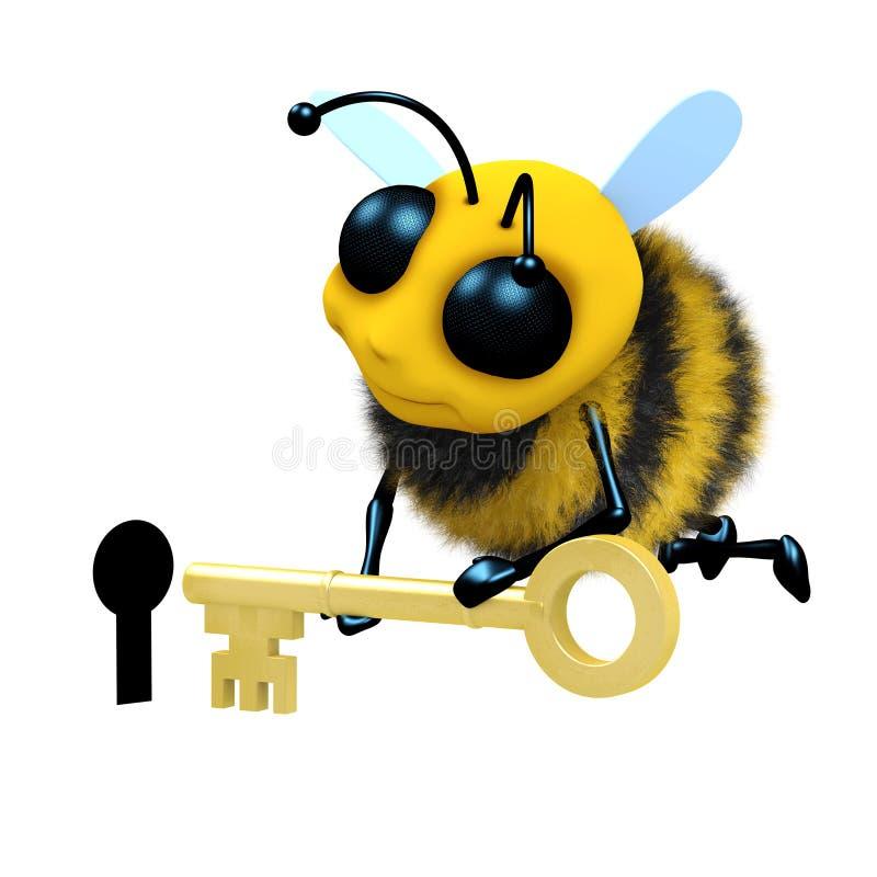 ojo de la cerradura de la abeja 3d libre illustration