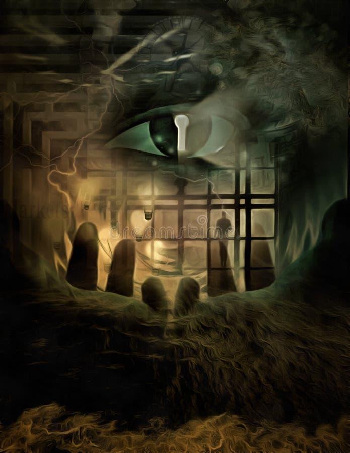 Ojo de la cerradura del ojo del espía libre illustration
