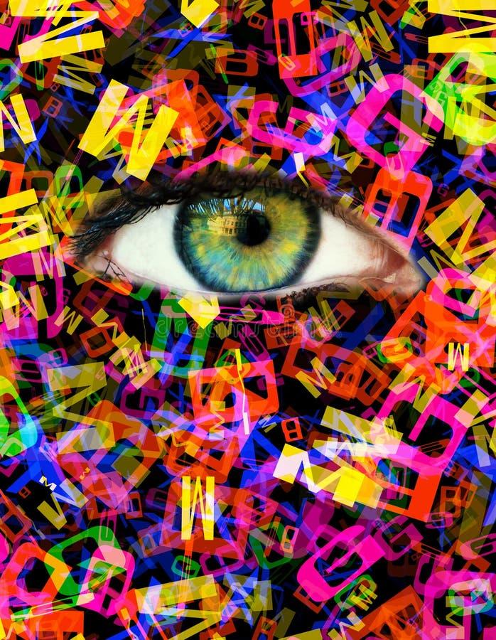 Ojo de la letra imagen de archivo libre de regalías
