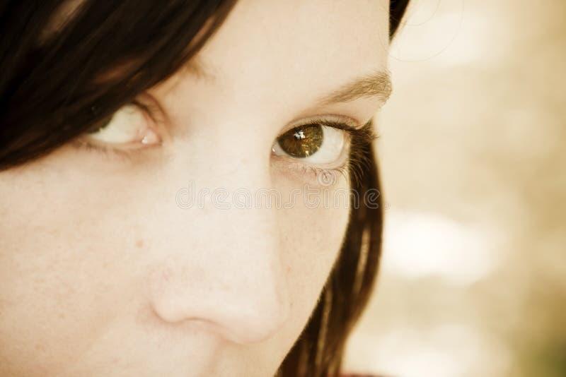 Ojo de la mujer imagen de archivo