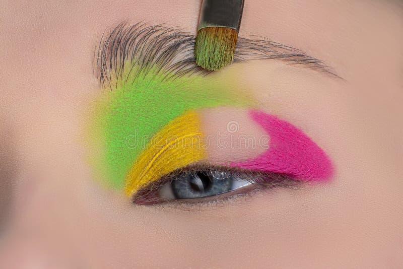 Ojo de la mujer con maquillaje hermoso fotografía de archivo libre de regalías